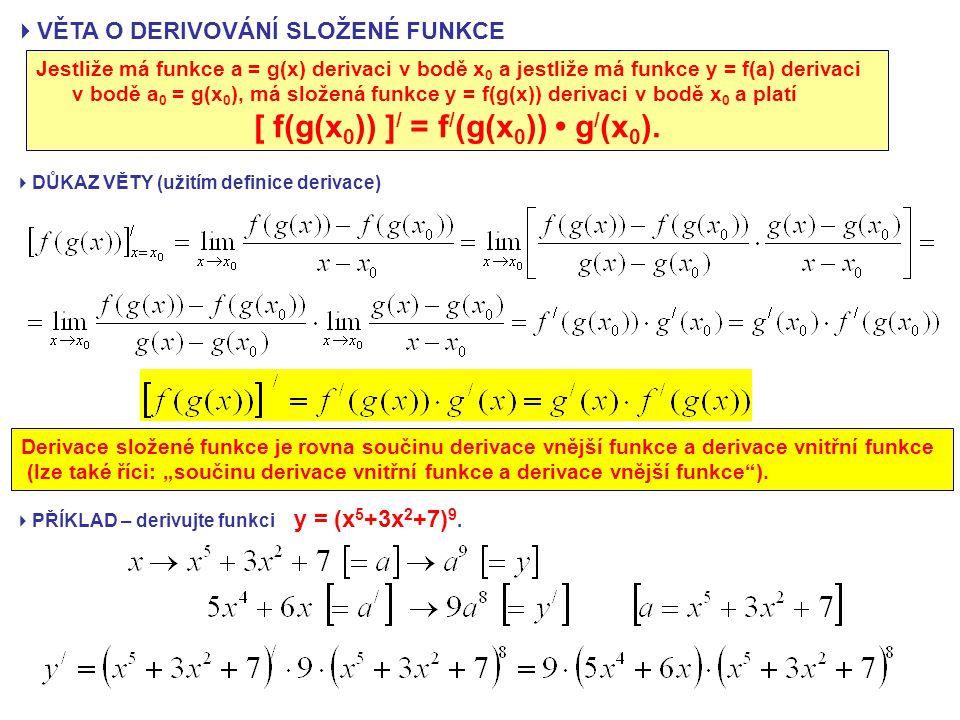 [ f(g(x0)) ]/ = f/(g(x0)) • g/(x0).